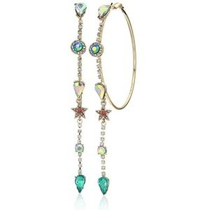 Betsey Johnson Magical Show Stone Hoops